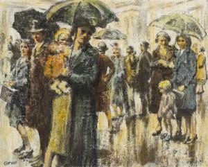 William Conor (1881-1968) RAINY DAY, BELFAST (18,000-22,000).