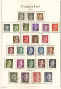 Stamps from an unhappy moment in German history.