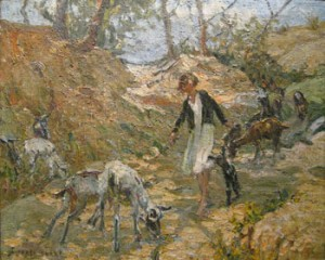 Dorothea Sharp (1875-1955) - The Young Goatherd - sold for 19,800.