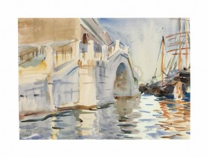 John Singer Sargent, R.A., R.W.S., H.R.S.A. (1856-1925) A Bridge in Venice - pencil and watercolour (£100,000-150,000). Courtesy Christie's Images Ltd., 2013