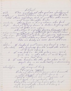 Bruce Springsteen's Handwritten Working Manuscript To Born To Run ($70,000-100,000).