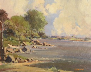 George Gillespie RUA (1924-1996) Strandford Lough  (1,000-1,500).
