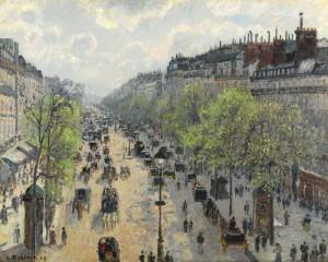 Camille Pissarro -  Boulevard Montmartre, matinée de printemps