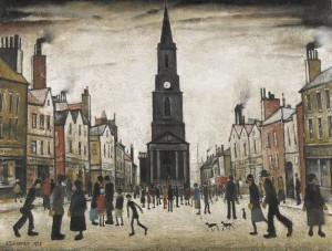 LAURENCE STEPHEN LOWRY, R.A A MARKET PLACE, BERWICK-UPON-TWEED signed and dated 1935. (£600,000-800,000).