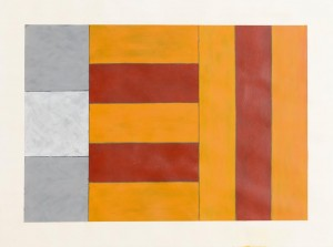 Sean Scully Arrest, 1960 acrylic on paper signed, titled & dated 1987 (25,000-35,000).