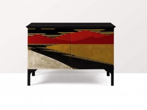 JEAN DUNAND & JEAN GOULDEN Unique Commode à L'Anglaise, 1921