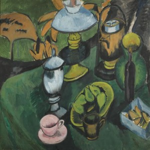 ERNST LUDWIG KIRCHNER 1880 - 1938 STILLEBEN MIT LAMPE (STILL-LIFE WITH LAMP) (£1.6-2 million).