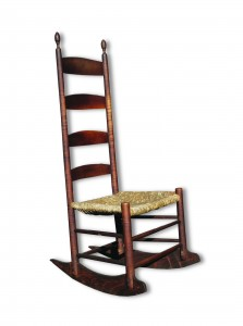 Suzanne Courcier-Robert W. Wilkins. Shaker Rocker. Harvard, MA, c. 1830. Outstanding original condition.
