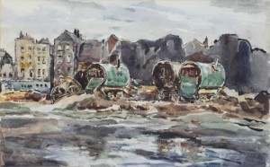 Cicely O'Brien - Caravans, Old Limerick (300-400).