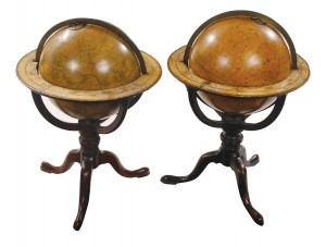Pair of Georgian Cary globes (8,000-12,000)