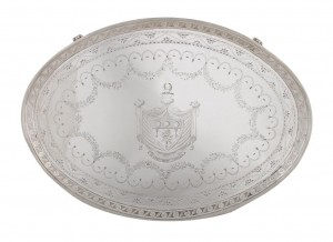 An Irish silver tray, Dublin 1786 by Robert Breading (8,000-12,000)