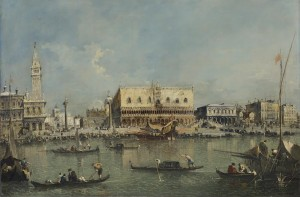 Francesco Guardi (1712-1793) Venice, the Bacino di San Marco with the Piazzetta and the Doge's Palace