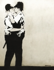 Banksy - Kissing Coppers.