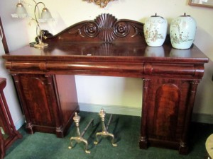 William IV Figured Mahogany Sideboard (600-900).