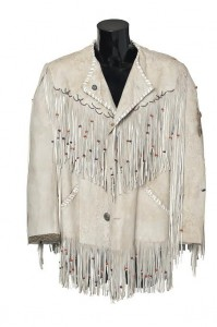 MARLON BRANDO'S BUFF BUCKSKIN JACKET FROM THE MISSOURI BREAKS 1976 (£1,500-2,500).  Courtesy Christie's Images Ltd., 2014.