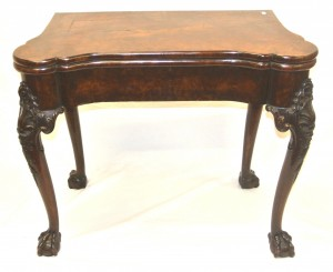 A George II walnut card table (2,000-3,000)
