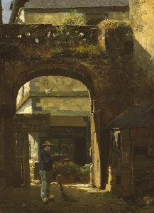 SUNSHINE AND SHADOW, [LA RUE DE L'APPORT] DINAN, 1883 by Walter Frederick Osborne  (70,000-90,000).