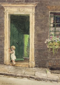 Rose Barton RWS (1856-1929) The Doorway Watercolour (6,000-8,000)