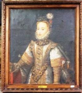 Anna of Austria attributed to Alonso Sanchez Coello.