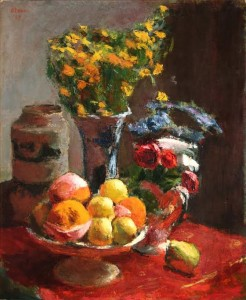 Roderic O'Conor (1860-1940) Still Life with a Compotier of Fruit made 72,000.