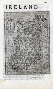Hondius (H.) Irlandia; Udrone; Ultonia, Conatia et Media; Ultonia Oriental; Hiberniae V Tabula.. c.1635.  London.