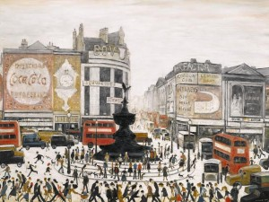 LAURENCE STEPHEN LOWRY, R.A. - PICCADILLY CIRCUS, LONDON signed and dated 1960 sold for £5.1 million.