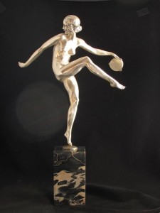"Pierre Laurel - ""Tambourine Dancer"" c1930 at Niall Mullen Antiques at the fair."
