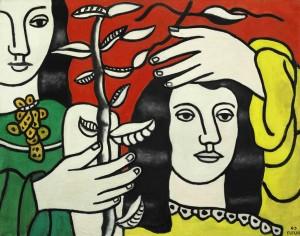 Fernand Léger Deux figures et une fleur