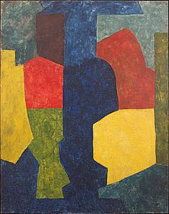 Serge Poliakoff (1900-1969)  Abstract composition  at Applicat-Prazan.