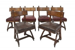 A SET OF SIX GOTHIC REVIVAL OAK DINING CHAIRS, AFTER EDWARD WELBY PUGIN (1834 - 1875), 19th Century (2,000-3,000)