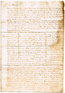 An original letter relating to the campaign of William of Orange in Ireland (300-500).