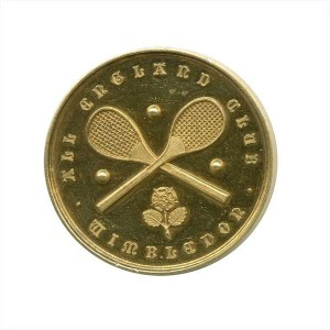 HAROLD SEGERSON MAHONY (1867-1905) THE LAST IRISHMAN TO WIN WIMBLEDON, 1896 His 18ct gold winner's medal by Harry Soane, London, awarded by the All England Club to H.S. Mahony 1896