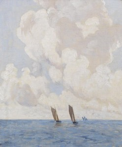 Boats at Sea by Paul Henry.