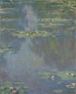 Claude Monet Nymphéas, oil on canvas, 1907 ($25.35 million).  Courtesy Christie's Images Ltd., 2014
