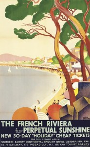 Roger Broders (1883-1953)  THE FRENCH RIVIERA FOR PERPETUAL SUNSHINE, 1930 (£4,000-6,000).