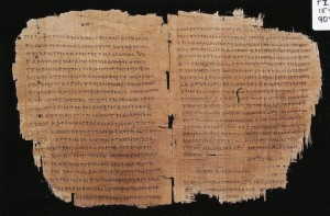 Romans, Philippians, Colossians Pauline Epistles Greek text on papyrus c. AD 180-200, Egypt - the earliest book of St. Paul's letters in existence.