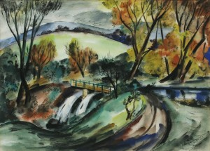 Norah McGuinness - The Mountain Stream - watercolour (5,000-7,000).