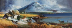 Kenneth Webb (v1927) - Cashel Mountain from Errlough, Connemara (5,000-8,000).