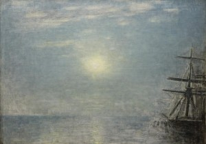 Sun over the Sea by Vilhelm Hammershøi.