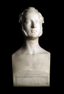 Thomas Sharp (1805 - 1882) Marble Bust Dated 1831 of Augustus FitzClarance illegitimate son of Prince William later King William IV and his Irish mistress the actress Dorothea Jordan (1761-1816).