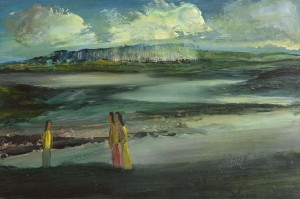 Daniel O'Neill (1920-1974) Figures in Landscape  oil on board 93,000-5,000).