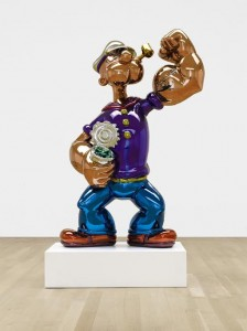 Jeff Koons Popeye signed, dated 2009-2011 and numbered 3/3.