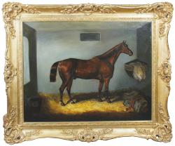 Samuel Spode - Chestnut in a stable (2,000-3,000)