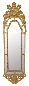 One of a pair of mid-18th century Italian gilt framed mirrors  (6,000-9,000).