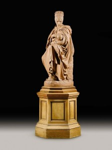 PROPERTY OF THE MARQUESS OF SLIGO FROM WESTPORT HOUSE, IRELAND AIMÉ-JULES DALOU FRENCH 1838 - 1902 BOULONNAISE ALLAITANT SON ENFANT (A YOUNG MOTHER FROM BOULOGNE FEEDING HER CHILD) signed and dated: DALOU 1876 terracotta, on the original wooden revolving base (£300,000-500,000).