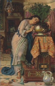 WILLIAM HOLMAN HUNT, O.M., R.W.S. (1827–1910) Isabella and the Pot of Basil (£5-8 million)