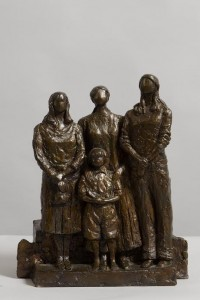 Melanie Le Brocquy HRHA (b.1919) Three Graces and a Child 2006  bronze number 2/6 (2,000-3,000)