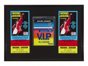 Michael Jackson 30 July 1988 Cork concert tickets and VIP pass. (100-150)