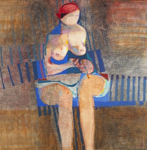 Colin Middleton MBE RHA (1910-1983) SEATED FIGURE: 6.72 [1972]