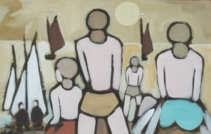 Markey Robinson (1918-1999) HOOKERS RETURNING (1,000-1,500)